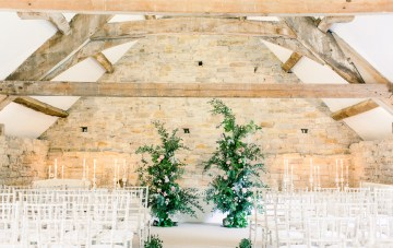 Pretty Neon Pink Wedding Ideas In An 800 Year Old Barn