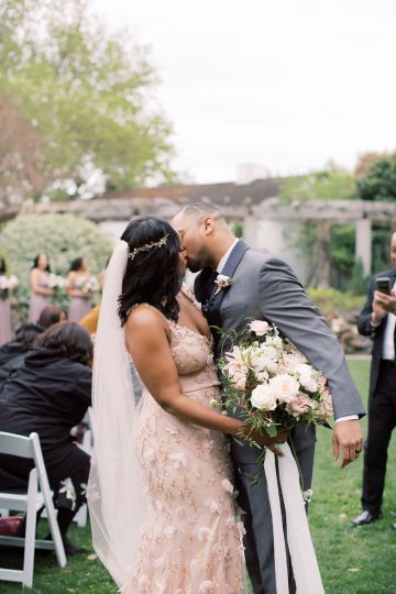 Pretty Texas Garden Wedding With A Blush Pink Wedding Dress – Deven Ashley 24