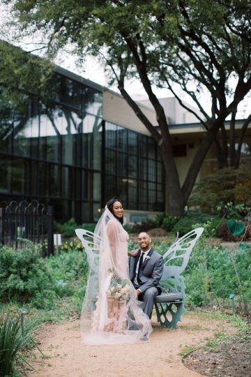 Pretty Texas Garden Wedding With A Blush Pink Wedding Dress – Deven Ashley 30