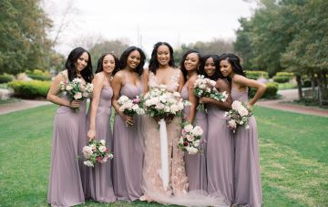 Pretty Texas Garden Wedding With A Blush Pink Wedding Dress – Deven Ashley 7