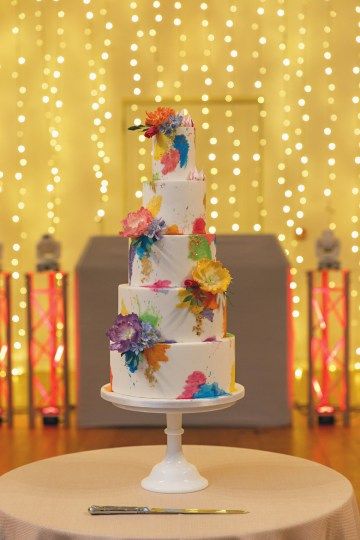 Regal and Colorful Indian Wedding with Watercolor Details – Chris Taylor 34