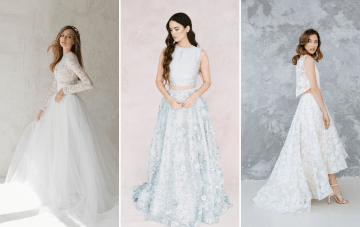 30 Bridal Separates & Two-Piece Wedding Dresses We Love