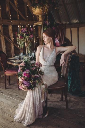 Opulent Barn Holiday Wedding Inspiration – Kerry Ann Duffy Photography 25