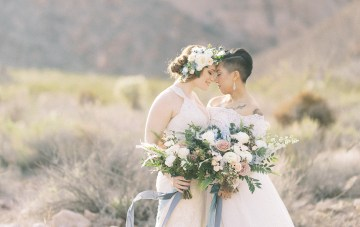 Ethereal Blue Desert Wedding Inspiration