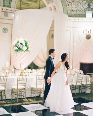 Gorgeous Green and Pink Chicago Ballroom Wedding – Clary Pfeiffer Photography – LOLA Event Productions 34