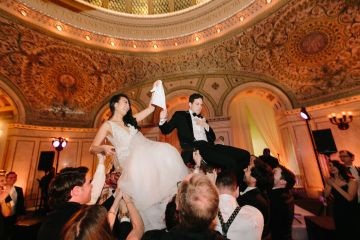 Gorgeous Green and Pink Chicago Ballroom Wedding – Clary Pfeiffer Photography – LOLA Event Productions 7
