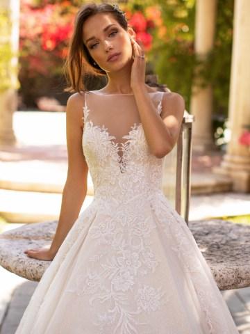 10 Gorgeous Ball Gown Wedding Dresses – Moonlight Bridal – H1425-3QF