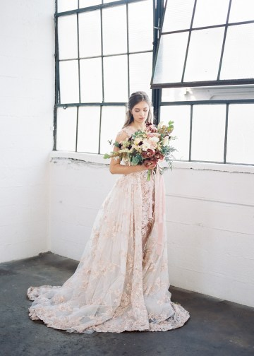 Mauve Fig Wedding Inspiration with a Gorgeous Ballgown Wedding Dress – Maricle King 16