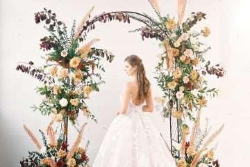 Mauve Fig Wedding Inspiration with a Gorgeous Ballgown Wedding Dress – Maricle King 29