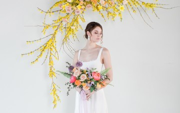 Colorful Spring Wedding Ideas With Creative Paper Goods