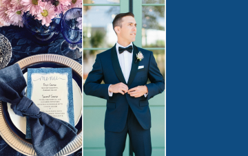 Use This Mood Board For Your Classic Blue Wedding Ideas