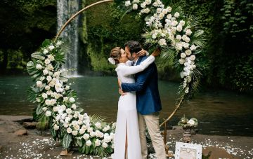 Breathtaking Balinese Waterfall Elopement