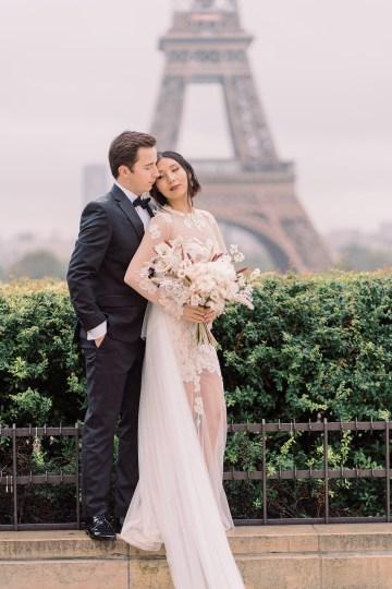 Rainy and Romantic Parisian Eiffel Tower Elopement Inspiration – Christine Grace Photography 26