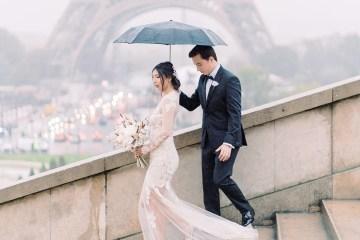 Rainy and Romantic Parisian Eiffel Tower Elopement Inspiration – Christine Grace Photography 29