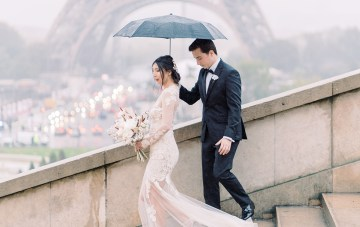 Rainy & Romantic Parisian Elopement Inspiration