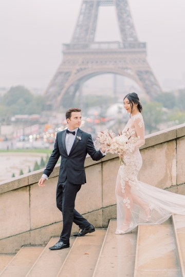 Rainy and Romantic Parisian Eiffel Tower Elopement Inspiration – Christine Grace Photography 5