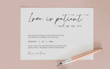20 Cute Change The Date Cards For Postponing Your Wedding Day