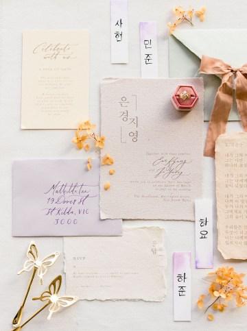 Modern Korean Wedding Inspiration – lilelements – Anadena Photography 32
