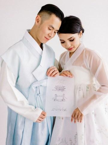 Modern Korean Wedding Inspiration – lilelements – Anadena Photography 54