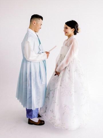 Modern Korean Wedding Inspiration – lilelements – Anadena Photography 55