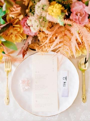 Modern Korean Wedding Inspiration – lilelements – Anadena Photography 71