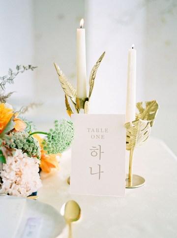Modern Korean Wedding Inspiration – lilelements – Anadena Photography 76