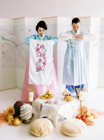 Modern Korean Wedding Inspiration – lilelements – Anadena Photography 83