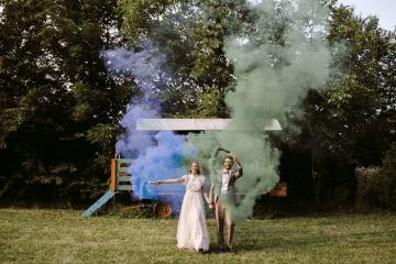 Bohemian Wildflower Wedding in Northern Italy – Margherita Calati – Castello di Paderna 12