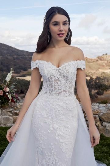 Casablanca Bridal Off-the-shoulder Wedding Dresses – Bridal Musings – 2419 – Mckenzie 1