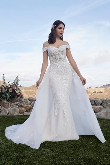Casablanca Bridal Off-the-shoulder Wedding Dresses – Bridal Musings – 2419 – Mckenzie 2