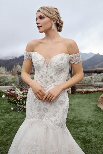 Casablanca Bridal Off-the-shoulder Wedding Dresses – Bridal Musings – 2423 – Gabrielle 1