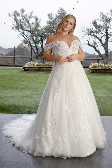 Casablanca Bridal Off-the-shoulder Wedding Dresses – Bridal Musings – 2427C – Myla 2