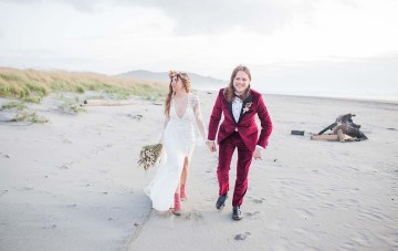 Our Flower Child, Rockstar Bridal Writer Gets Married At A Pacific Northwest Beach