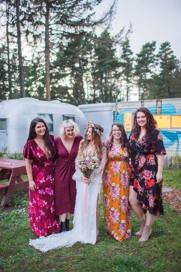 Pacific Northwest Rock and Roll Beach Wedding at The Funky Souwester Lodge – Claire Eliza Wedding Photography – Christina Castello and Drew Pull – Alexandra Grecco Dylan Gown 59