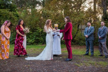 Pacific Northwest Rock and Roll Beach Wedding at The Funky Souwester Lodge – Claire Eliza Wedding Photography – Christina Castello and Drew Pull – Alexandra Grecco Dylan Gown 6