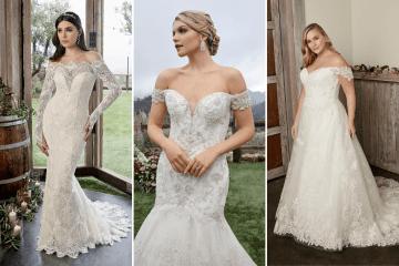 Why We Still Love the Off-the-shoulder Wedding Dress Trend – Bridal Musings – Casablanca Bridal