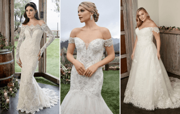 Why We're Still Loving The Off-The-Shoulder Wedding Dress Trend