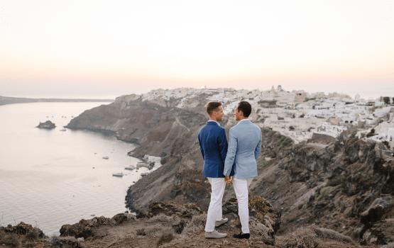 The Cliffside Views Of This Santorini Destination Wedding Are Stunning
