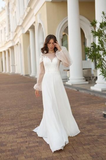 Feminine Simple Minimalistic Wedding Dresses by Mila Bridal 2020 2021 – Bridal Musings 46