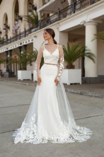 Feminine Simple Minimalistic Wedding Dresses by Mila Bridal 2020 2021 – Bridal Musings 53
