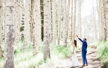 "An Intimate Forest ""Mini Wedding"" At A Utah Airbnb"
