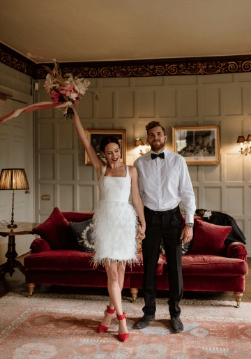 Fashion-forward Countryside Wedding Inspiration – Elmore Court – Laura Martha Photography 76