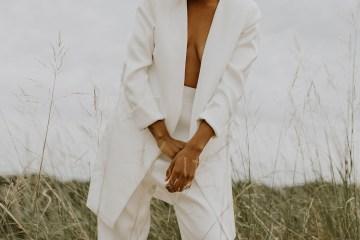 Modern and Fashion Forward 2021 Wedding Dresses by The LAW Bridal – Ezra Suit