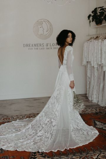 Dreamers and Lovers New Bohemian Wedding Dresses and LA Flagship Bridal Salon – Bridal Musings – Esther Boho Wedding Dress 1
