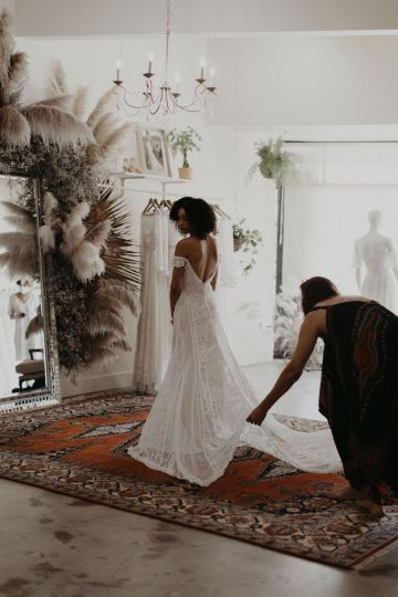 Dreamers and Lovers New Bohemian Wedding Dresses and LA Flagship Bridal Salon – Bridal Musings – Venice Showroom Interior 1