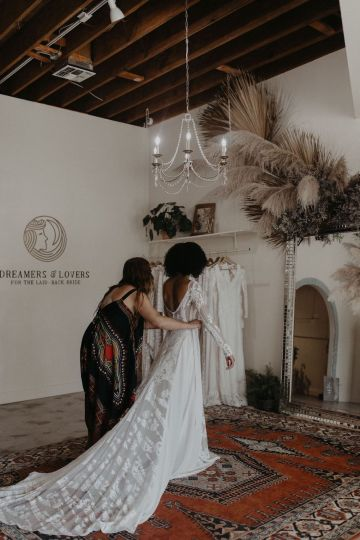 Dreamers and Lovers New Bohemian Wedding Dresses and LA Flagship Bridal Salon – Bridal Musings – Venice Showroom Interior 5