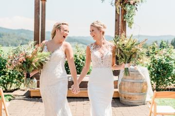 Pink Boho LGBTQ Winery Wedding Inspiration – Sierra Rose Photography 48