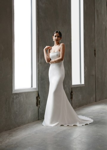Modern Minimalist 2021 Wedding Dresses by Aesling Bride – Gossamer Dress 5