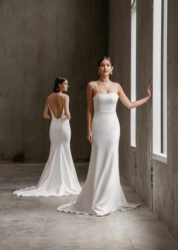 Modern Minimalist 2021 Wedding Dresses by Aesling Bride – Gossamer and Eunoia Dress