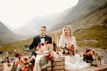 Stunning Scotland Highlands Elopement Inspiration – Alia PAIENDA – E and W Couture 3
